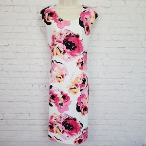 Tahari Floral Fitted Dress
